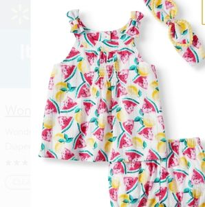 Baby girl 3pc poppin summer joy outfit !